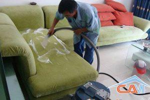 Giặt ghế sofa tại nhà ở Hà Nội giá rẻ uy tín
