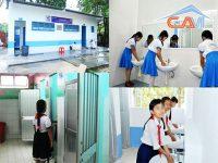 Vệ sinh trường học khu Nhân Chính, Thanh Xuân, Hà Nội