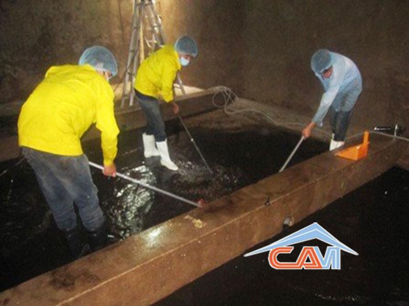 Dịch vụ thau cọ rửa bể, vệ sinh bể nước ngầm ở Hà Nội
